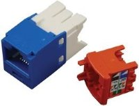 PANDUIT CJ5E88TGBU Модуль Mini-Com® RJ45 TX5e, UTP Т568A/B Enhanced (синий)