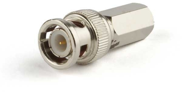Bnc male video plug connector to screw for rg59 cable bncscrew